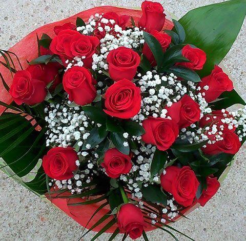 Ramo De Rosas Para Regalar Y Enviar A Domicilio Ramo De Rosas Rojas Docena De Rosas Rojas Ramos De Flores