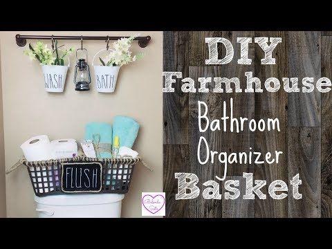 Diy Dollar Tree Farmhouse Organizer Basket Great For Limited Storage Space Youtube Dollar Store Diy Organization Dollar Store Diy Dollar Tree Diy