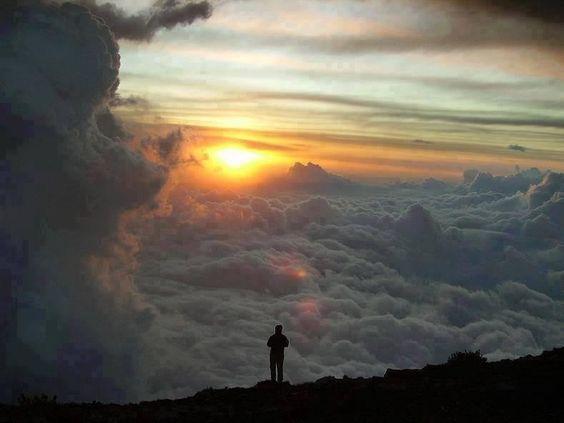 Clouds, sunset
