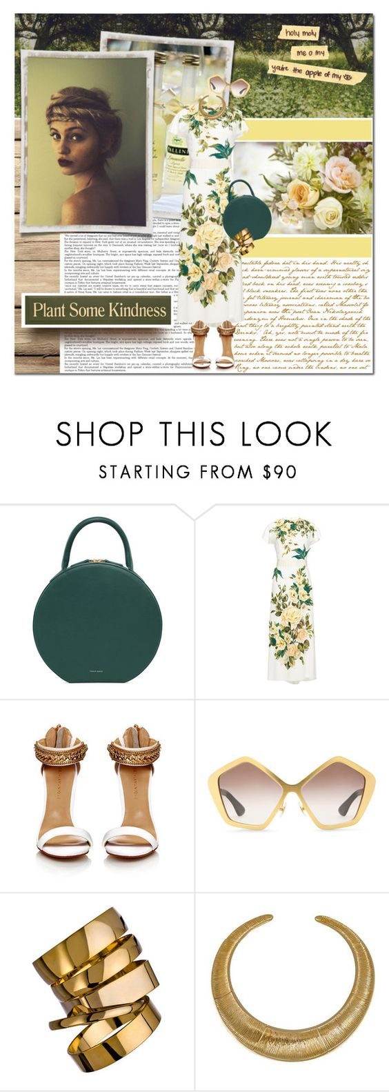 """""""some kindness"""" by lifestyle-ala-grace ❤ liked on Polyvore featuring ANNA, Dolce&Gabbana, Miu Miu, A.V. Max and Hissia"""