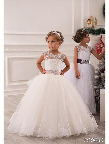 2016 Summer Flower Girl Dresses For Weddings Ball Gown Princess ...