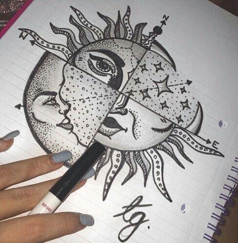 Sun Drawing And Art Image Boho Art Drawings Trippy Drawings