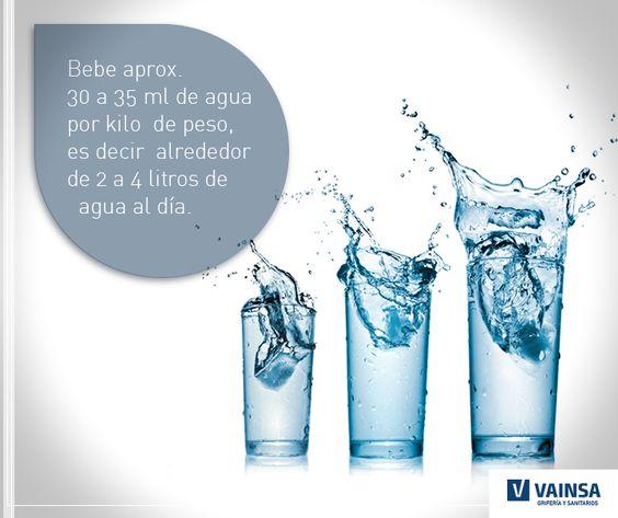 Accesorios De Baño Vainsa: saber qué cantidad de agua tomar al día? #Vainsa te deja este dato