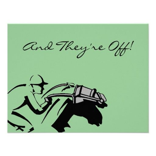 Racing Horses race Kentucky Derby Party Invitation from Zazzle – Zazzle Party Invitations