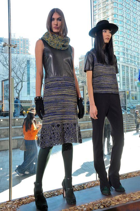 Knit cowl by Rachel Roy