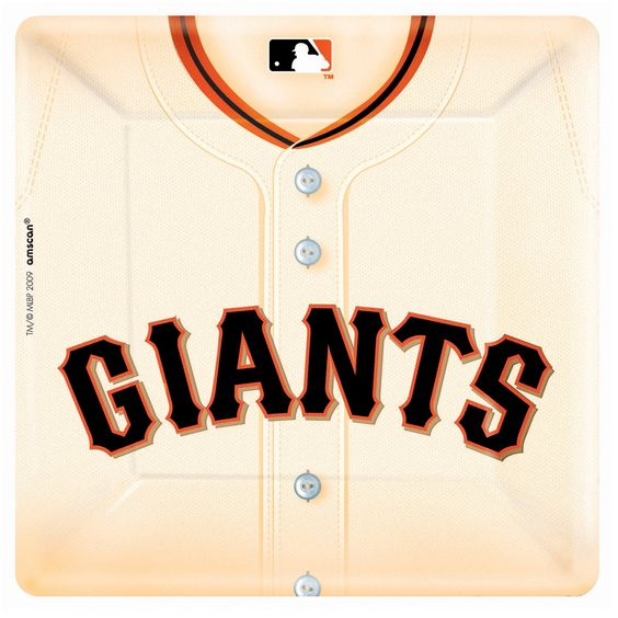 San Francisco Giants Baseball Square Banquet Dinner Plates