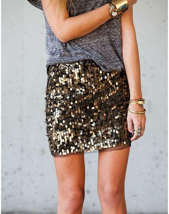 jupe paillettes tenue en f te fashion fixette 10 glitter pinterest t shirts gris. Black Bedroom Furniture Sets. Home Design Ideas