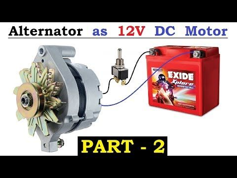 233 12v 120 Amps Car Alternator Converted To Dc Motor With High Torque Using Bldc Controller Part 2 Youtube Car Alternator Alternator Alternator Repair