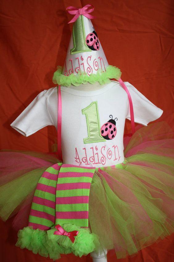 Ladybug tutu birthday set can come with legwarmers by christy961, $40.00