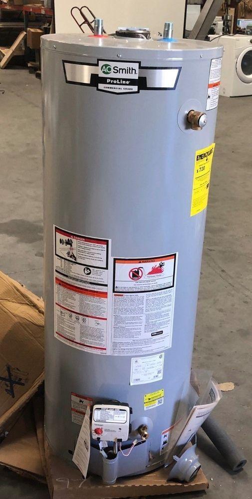 A O Smith Gcg 50 Proline Tall Propane Gas Water Heater 50 Gallon Wind Grey Aosmith Gas Water Heater Water Heater Propane