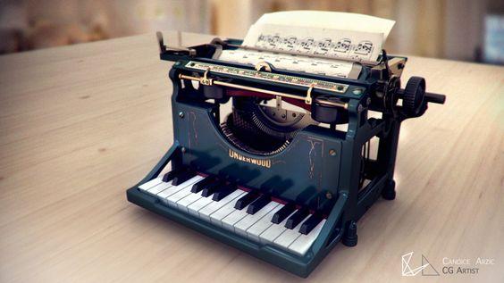 Candice ARZIC - Music Typewriter - Maya MentalRay
