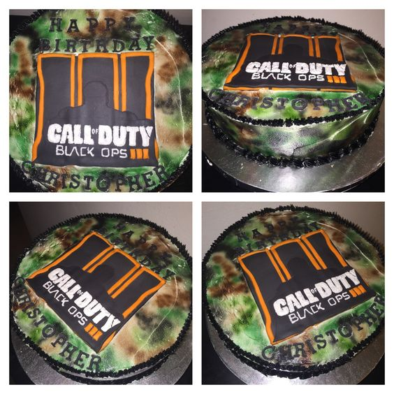 Call of duty black ops 3 birthday cake cake buttercream for Black ops 3 decorations