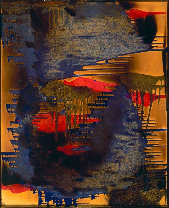 Yves klein peinture feu couleur sans titre 1961 fire for Art conceptuel peinture