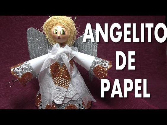 DIY ANGELITO DE PAPEL - ANGEL PAPER