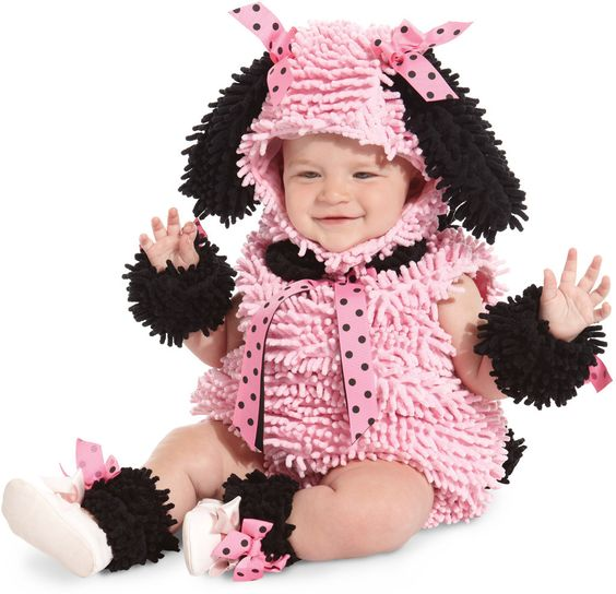 pink poodle infant-toddler costume