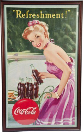 Vintage Coca Cola Shopping Cart 2-Bottle Holder : Lot 203