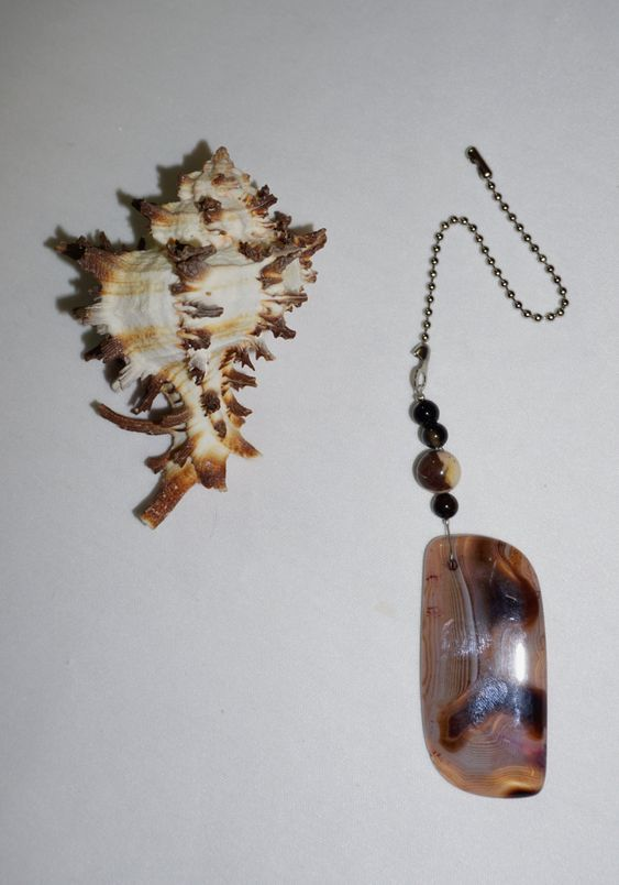 One of a Kind, Brown and White, Agate Fan Pull,  Large Fan Pull,   Fan Pull, Unique Gifts,  Holiday Gifts,  Ready To Ship by EarthDreamsbySunLi on Etsy