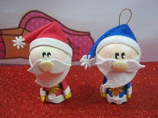 Como hacer adornos navide os de pap noel en foamy o - Como hacer adornos navidenos ...