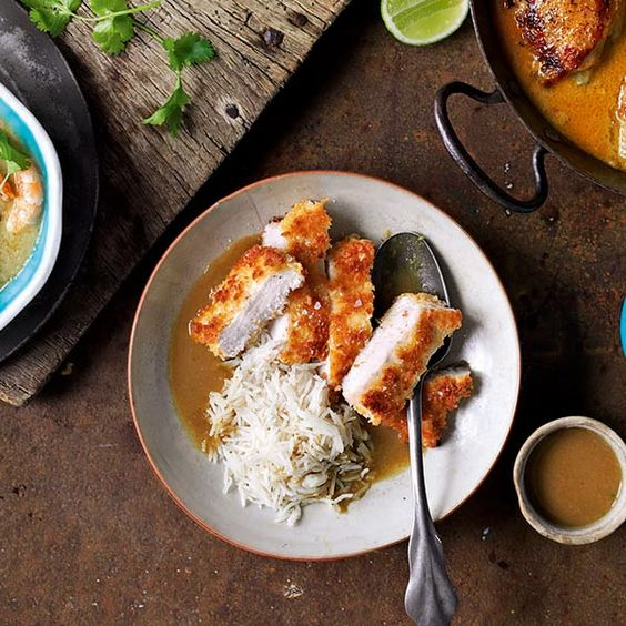 This Japanese recipe of crisp fried chicken in a rich curry sauce is packed full of flavour.