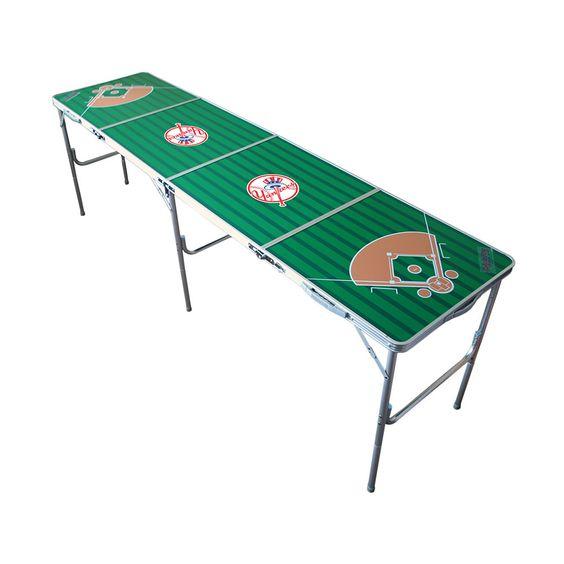New York Yankees MLB Tailgate Pong Table 2x8