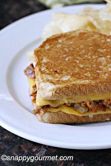 Sloppy Burger Grilled Cheese Recipe