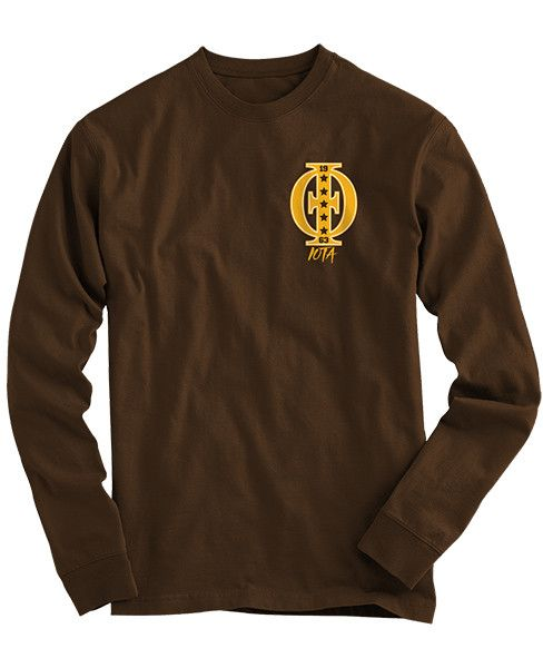 Iota Phi Theta Badge LS - Brown: