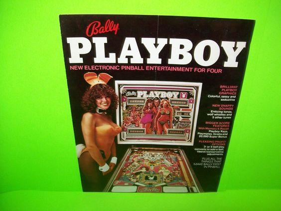 Bally PLAYBOY 1978 Original Flipper Pinball Machine Foldout Sales Flyer POSTER…