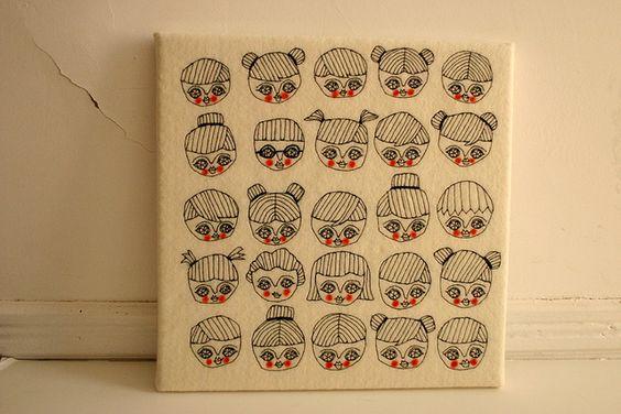 boys and girls  stitch art collage  by cara carmina    (cute!)