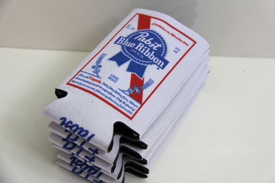 New! Pabst Blue Ribbon Beer Can Coozy Koozy Coozie Fits 16 Ounce Can