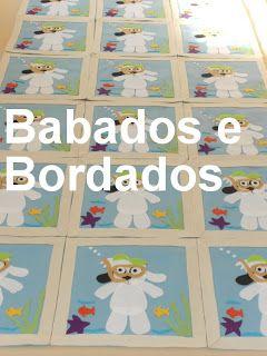 Babados & Bordados: Aplicação para avental :Tema Doki