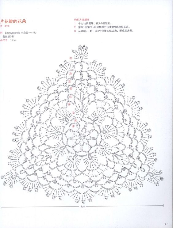 crochet flower diagram: