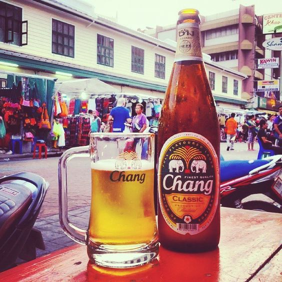 Let's cheers with #Chang #Beer! # # #whpemojisinthewild #khaosanroad #ttot #travel #thailand #Tailandia #drinkinggames