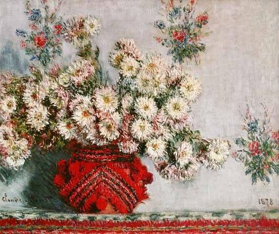 Claude Monet, 'Chrysanthemes' 1878.