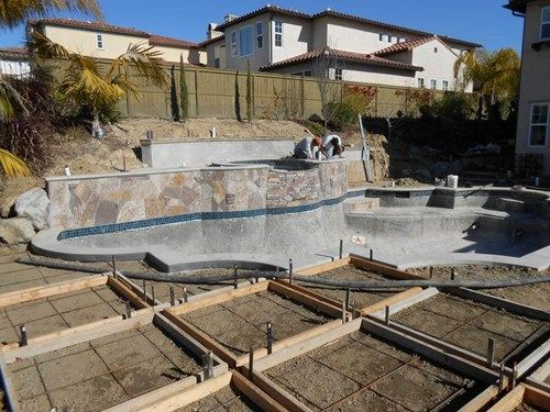 Backyard Slope Pool Retaining Walls Quality Living