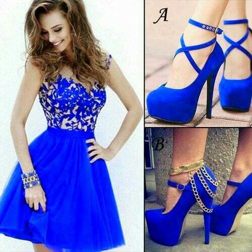 Vestidos azules hermosos