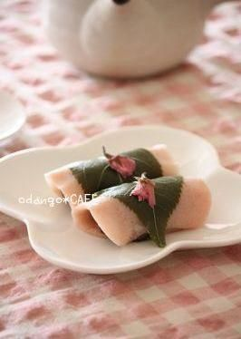 もち粉でもちもち♪関東風ぎゅうひ桜餅 ♡おしゃれな桜餅の作り方