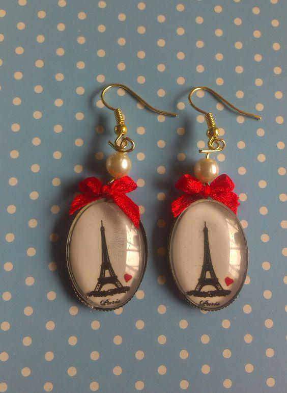 """""""Paris please"""" DIY earrings/ oorbellen"""