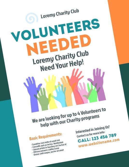 Volunteers Needed Flyer Flyer Poster Template Corporate Flyer