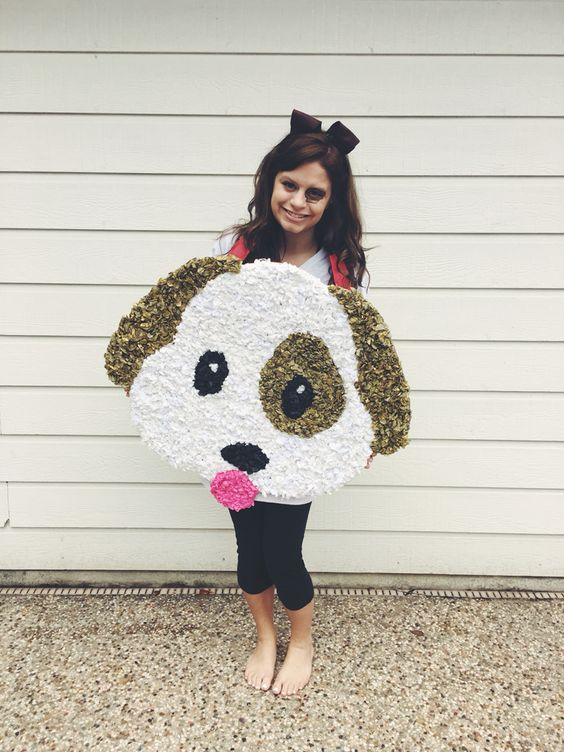 Emoji Emoji costume Halloween Diy Easy Halloween costume Puppy - ideas for easy halloween costumes