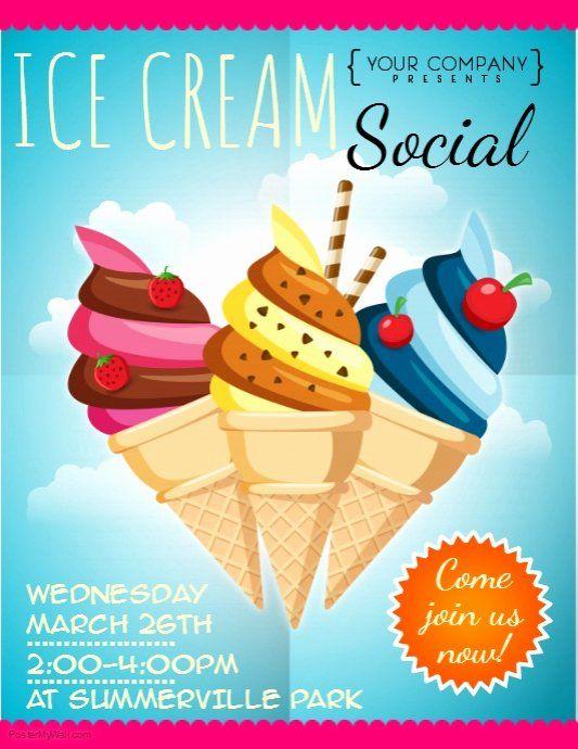 Ice Cream Social Flyer Template Free Fresh Ice Cream Social Flyer Template Ice Cream Social Flyer Ice Cream Party