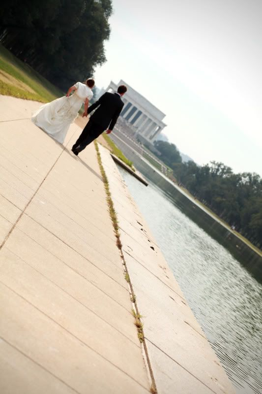 I'll wear comfy shoes just so I can walk around dc in a wedding dress and take photos like this
