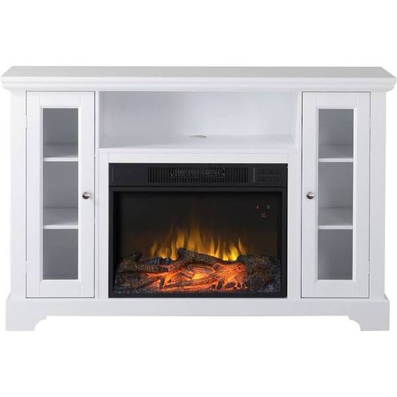 White Electric Fireplace Tv Stand For The Home Pinterest Electric Fireplaces White