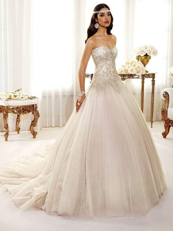 Jasmine Wedding dress - by Delsa - Disney Princess Wedding Dress ...