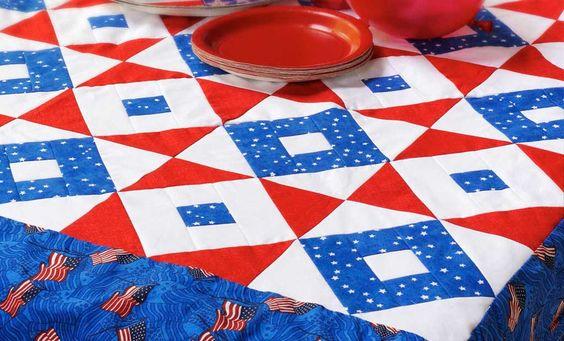 Crafts n' things Weekly - patriotic tablecloth