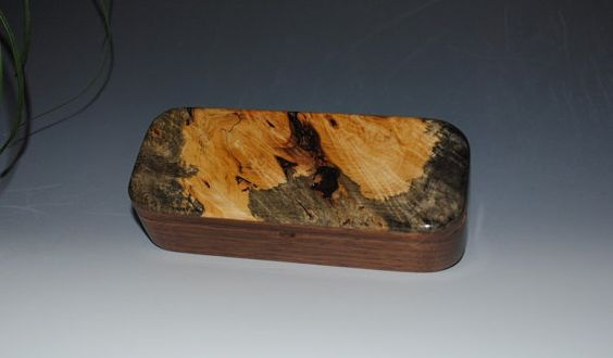 Handmade Wooden Pen Box in Natural Black Walnut by BurlWoodBox, $39.00