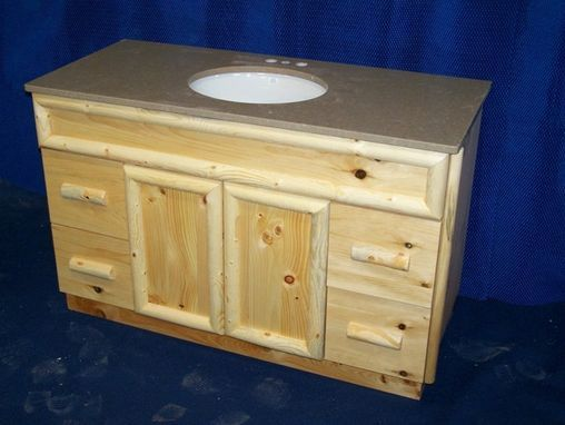 Custom Made Knotty Pine Rustic Bathroom Vanity Rustic Bathroom