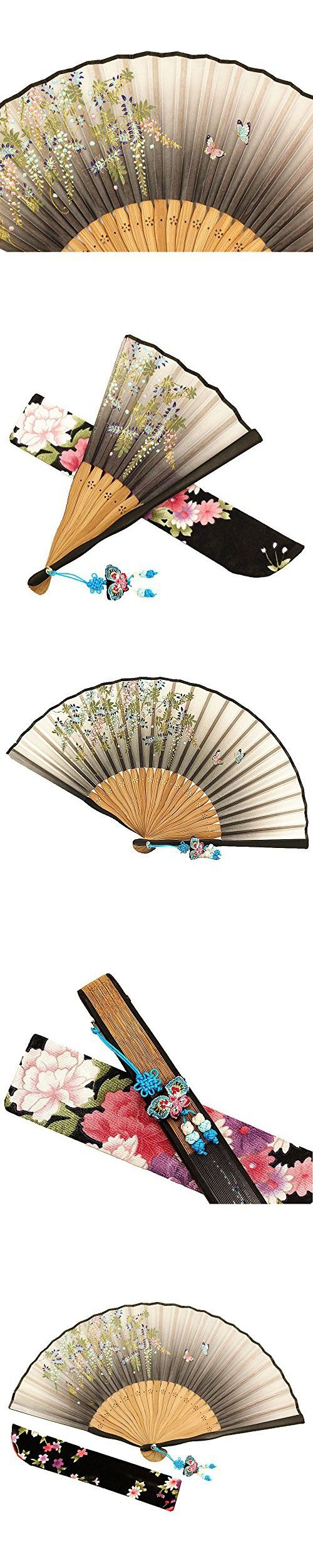 Wise Bird Chinese Japanese Folding Hand Fan, Fashion Accessories ...