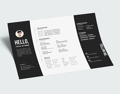 Check Out New Work On My Behance Portfolio Landscape Cv Resume A4 Free Download Psd Http Be Net Resume Design Creative Resume Design Resume Template