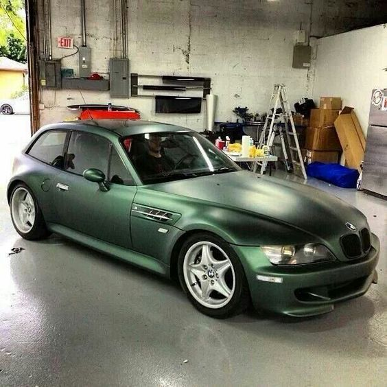 Bmw Z3 Colours: BMW Z3 M Coupe In Pine Metallic Green Wrap