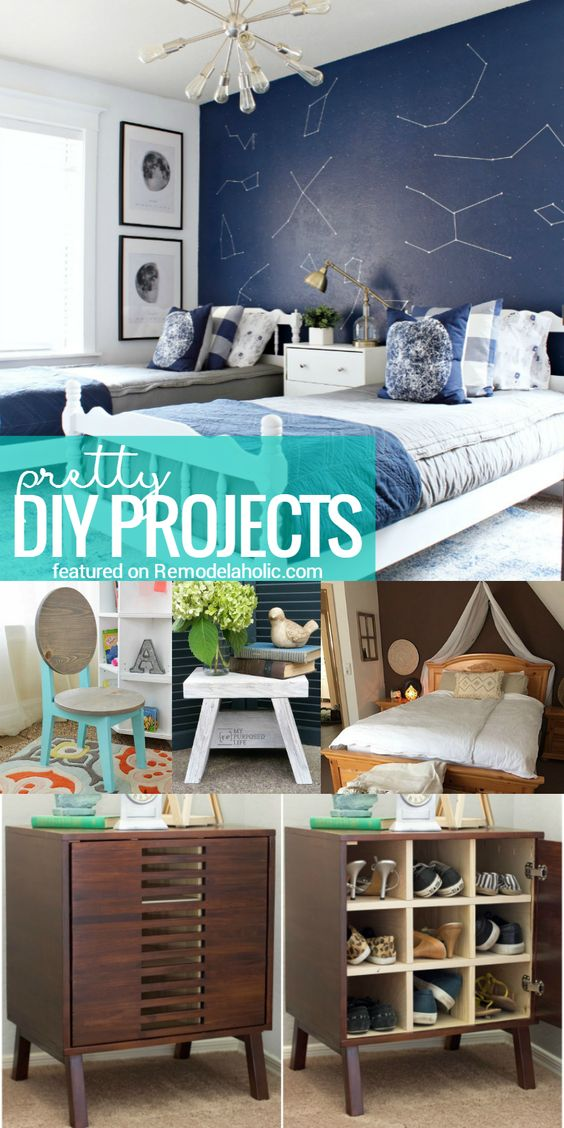 Friday Favorites, boys space room, shoe storage, one board projects @remodelaholic